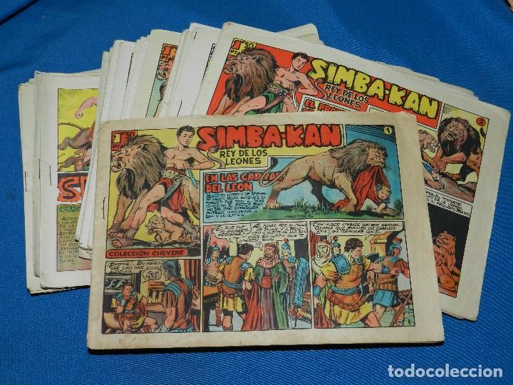 (M4) SIMBA-KAN - COMPLETA DEL NUM 1 AL NUM 60 , EDT MARCO 1959 , SEÑALES DE USO NORMALES (Tebeos y Comics - Marco - Otros)