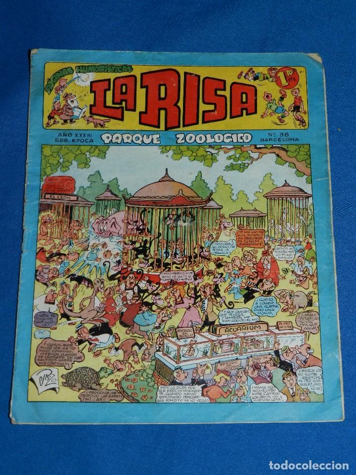 (M1) LA RISA AÑO XXXIII NUM 38 , EDT MARCO , ROTURITAS EN EL LOMO (Tebeos y Comics - Marco - La Risa)