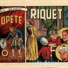 Tebeos: LAS HADAS: RIQUET EL DEL COPETE (MARCO, AÑOS 40) DE AYNÉ.. Lote 121077139