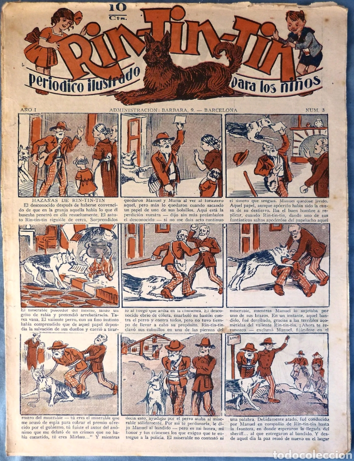 TEBEO N°3 RIN-TIN-TIN 1928 (Tebeos y Comics - Marco - Rin-Tin-Tin)