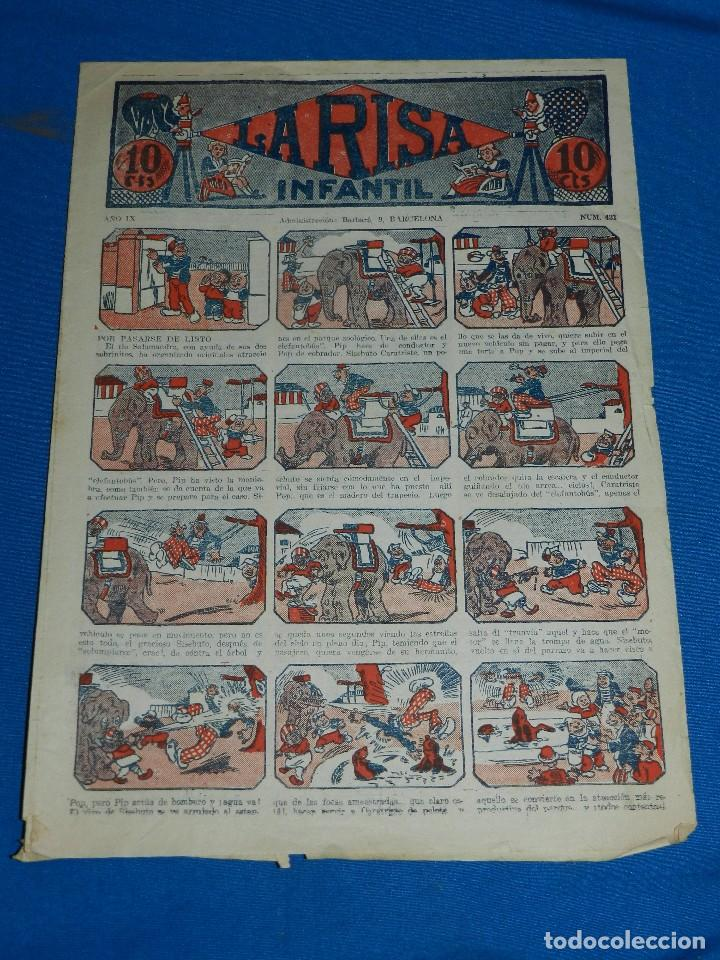 (M2) LA RISA INFANTIL NUM 431 , EDT MARCO , CON ROTURAS (Tebeos y Comics - Marco - La Risa)