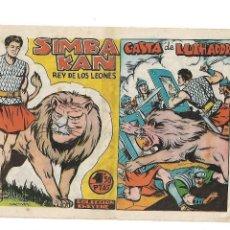 Tebeos: SIMBA - KAN, REY DE LOS LEONES, AÑO 1.959. Nº 38 Y 39. SON ORIGINALES DIBUJANTE MARTÍNEZ.. Lote 128518083