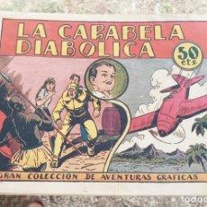 Tebeos: LOS NAVARRO N.º 3 LA CARABELA DIABOLICA ED. MARCO 50 CTS. 1940 CON ESTAMPAS DE TRAJES. Lote 130212191