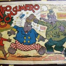 Tebeos: HIPO CONSUMERO . BIBLIOTECA ESPAECIAL PARA NIÑOS ED MARCO . AÑOS 40 ORIGINAL. Lote 131397218