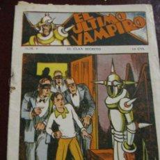 Tebeos: EL ULTIMO VAMPIRO . Nº 9 EL CLAN SECRETO . ED MARCO . ORIGINAL. Lote 131397414