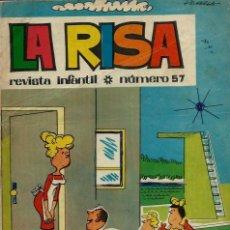 Tebeos: LA RISA 3ª EPOCA Nº 57 - OLIVE Y HONTORIA 1965 - CON 'MELENAS' DE FRANCISCO IBAÑEZ, RAF, ETC.. Lote 133483794