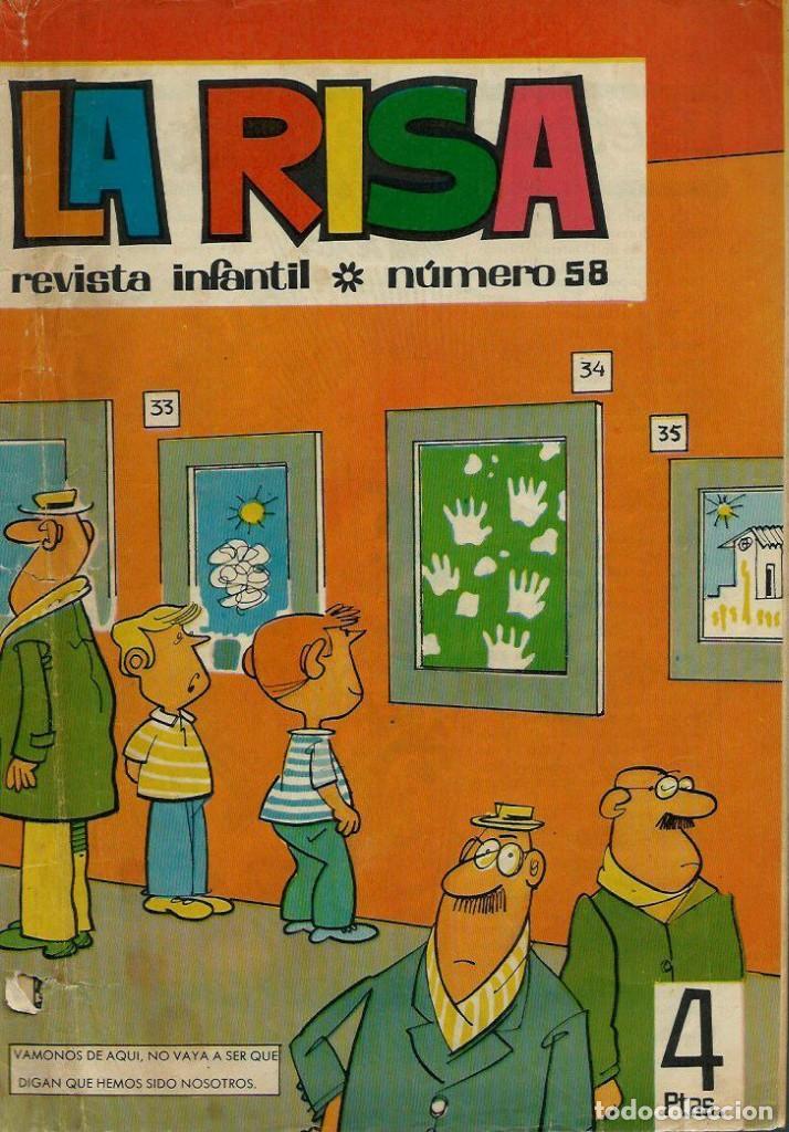 LA RISA 3ª EPOCA Nº 58 - OLIVE Y HONTORIA 1965 - CON 'MELENAS' DE FRANCISCO IBAÑEZ, RAF, ETC. (Tebeos y Comics - Marco - La Risa)