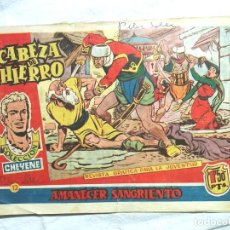 Tebeos: CABEZA DE HIERRO Nº 12 AMANECER SANGRIENTO. SERIE CHEYENE. Lote 135556542