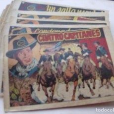 Tebeos: CUATRO CAPITANES - GRAFIDEA - 1954 - COLECCION COMPLETA 33 SUELTOS - J. M. ORTIZ - P. MUÑOZ -17X24CM. Lote 135599050