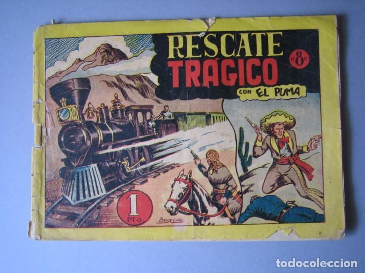 PUMA, EL (1946, MARCO) 8 · 1946 · RESCATE TRAGICO (Tebeos y Comics - Marco - Otros)