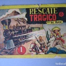 Tebeos: PUMA, EL (1946, MARCO) 8 · 1946 · RESCATE TRAGICO. Lote 135720695