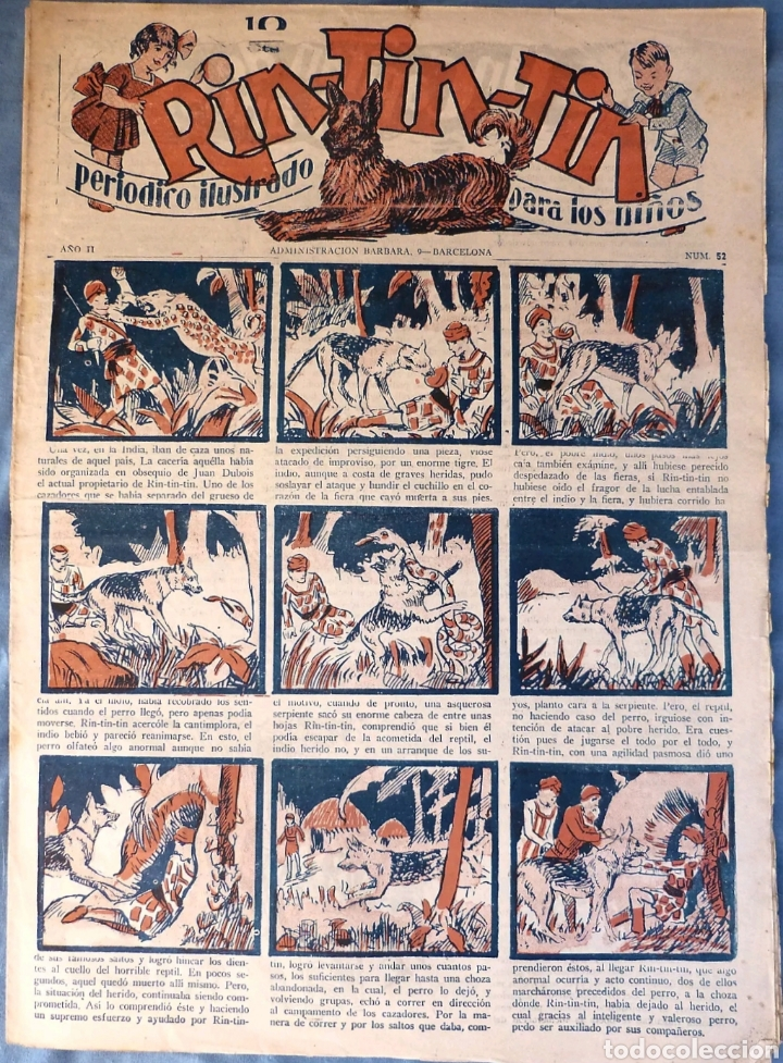 TEBEO N°52 RIN TIN TIN 1928 (Tebeos y Comics - Marco - Rin-Tin-Tin)