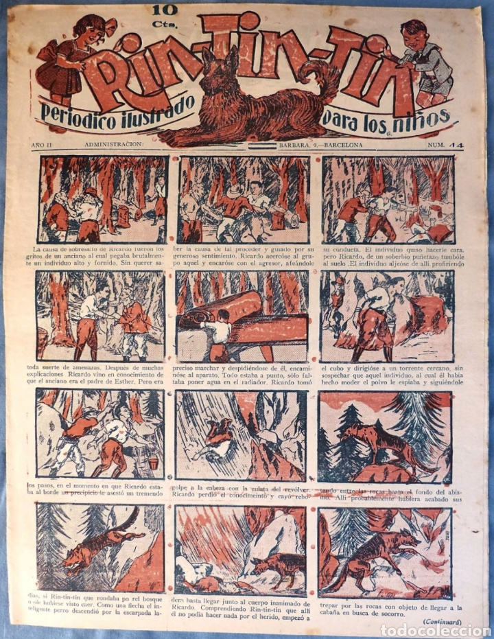 TEBEO N°44 RIN TIN TIN 1928 (Tebeos y Comics - Marco - Rin-Tin-Tin)