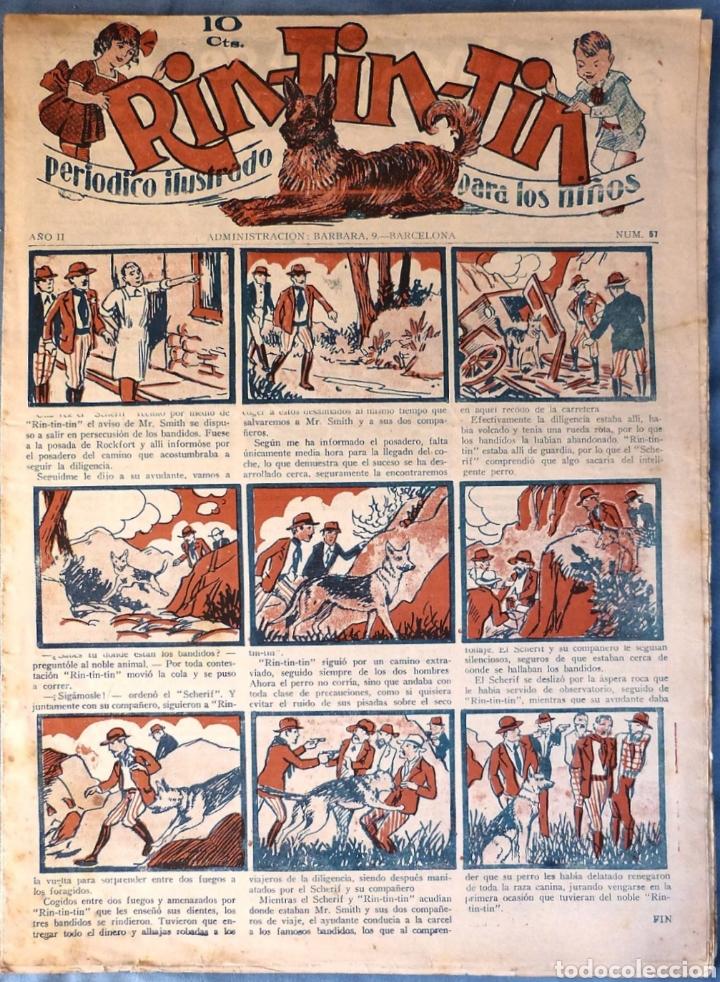 TEBEO N°57 RIN TIN TIN 1928 (Tebeos y Comics - Marco - Rin-Tin-Tin)