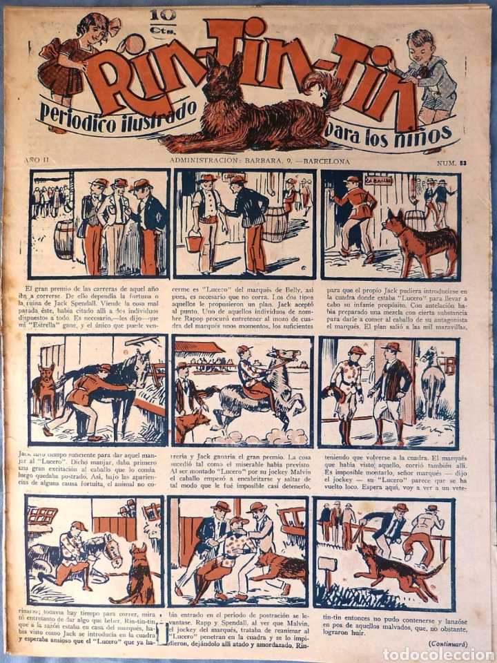 TEBEO N°53 RIN TIN TIN 1928 (Tebeos y Comics - Marco - Rin-Tin-Tin)