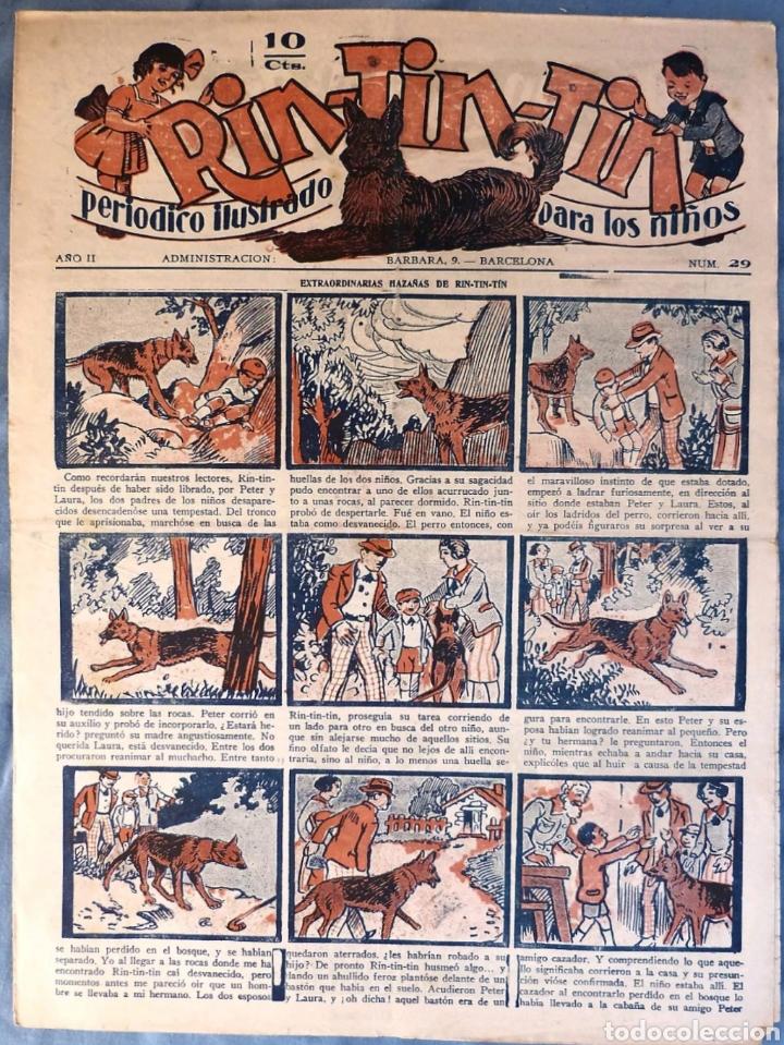 TEBEO N°29 RIN TIN TIN 1928 (Tebeos y Comics - Marco - Rin-Tin-Tin)
