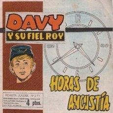 Tebeos: DAVY Y SU FIEL ROY- Nº 271 -HORAS DE ANGUSTIA- GRAN GARCÍA DEL ÁRBOL-1966-BUENO-DIFÍCIL-LEAN-9642. Lote 139750456