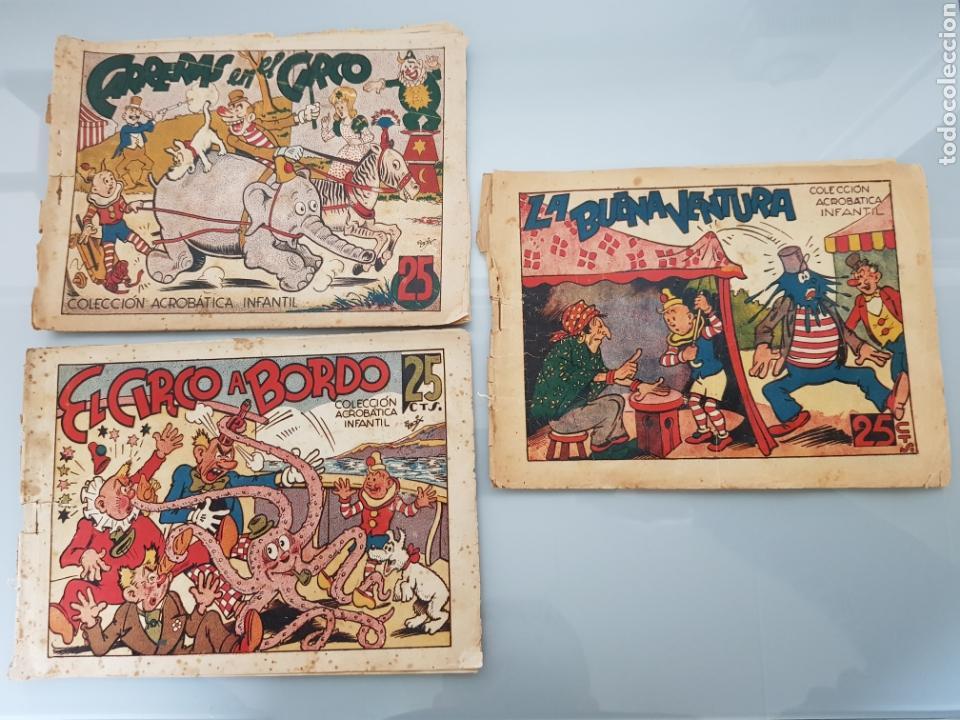 3X COLECCION ACROBATICA INFANTIL ED. MARCO 1942 (Tebeos y Comics - Marco - Acrobática Infantil)