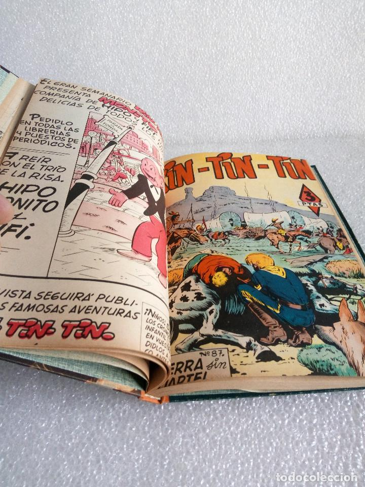 Tebeos: RINTINTIN RIN TIN TIN AVENTURAS DEL PERRO 1958 TAPADURA del 85 al 99 muy buen estado - Foto 8 - 147195518