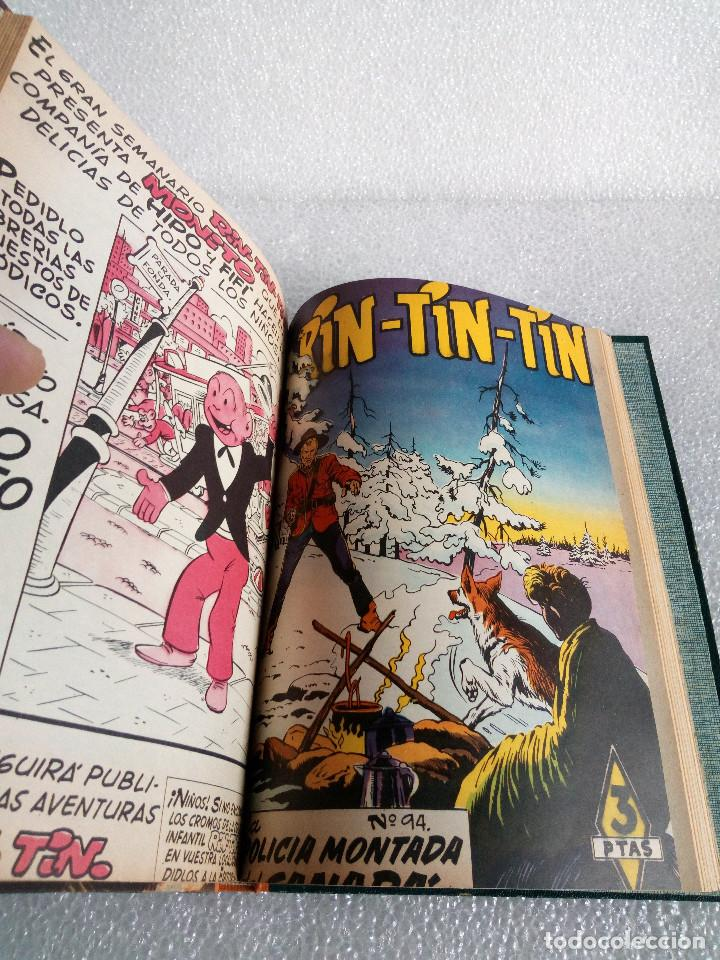 Tebeos: RINTINTIN RIN TIN TIN AVENTURAS DEL PERRO 1958 TAPADURA del 85 al 99 muy buen estado - Foto 15 - 147195518