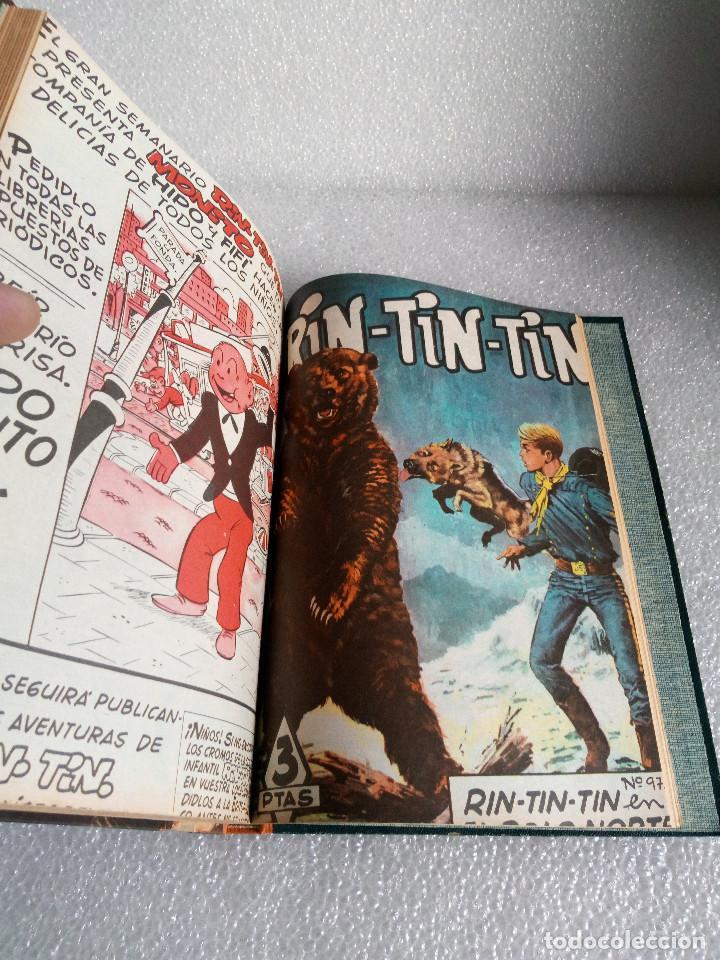 Tebeos: RINTINTIN RIN TIN TIN AVENTURAS DEL PERRO 1958 TAPADURA del 85 al 99 muy buen estado - Foto 18 - 147195518