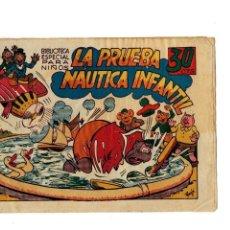 Tebeos: BIBLIOTECA ESPECIAL PARA NIÑOS -LA PRUEBA NÁUTICA INFANTIL - ORIGINAL,1942.. Lote 147538078