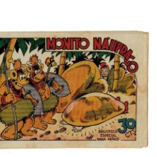 Tebeos: BIBLIOTECA ESPECIAL PARA NIÑOS -MONITO NÁUFRAGO- ORIGINAL,1942.. Lote 147538250