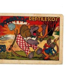 Tebeos: BIBLIOTECA ESPECIAL PARA NIÑOS -PORRAZOS REPTILESCOS - ORIGINAL,1942.. Lote 147538970