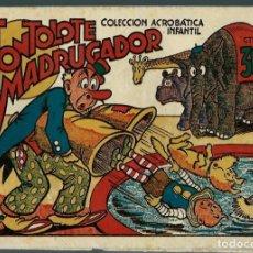 Tebeos: F. BOIX - TONTOLETE MADRUGADOR - COL. ACROBATICA INFANTIL - MARCO - ORIGINAL AÑOS 40. Lote 147762174