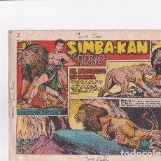 Tebeos: SIMBA KAN REY DE LEONES 1959--- 58 EJEMPLARES - ,FALTA EL Nº 1 Y EL 48. Lote 165648782