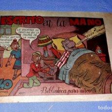 BDs: HIPO ESCRITO EN LA MANO BIBLIOTECA PARA NIÑOS EDIT. MARCO AÑOS 40 ORIGINAL VER FOTO Y DESCRIPCION. Lote 173255463