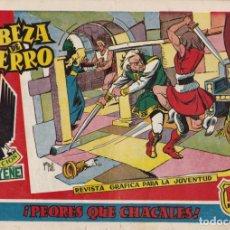 Tebeos: CABEZA DE HIERRO Nº 7 PEORES QUE CHACALES EL DE LA FOTO VER FOTO ADICIONAL CONTRAPORTADA. Lote 173922735