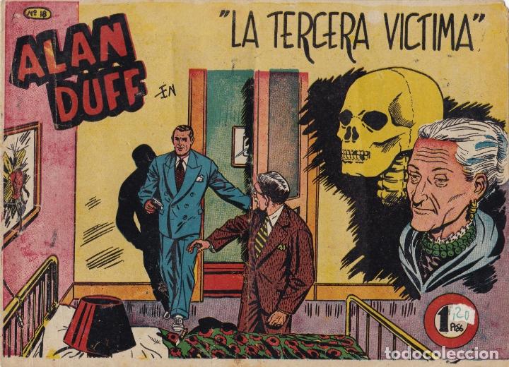 ALAN DUFF Nº 18 LA TERCERA VICTIMA EL DE LA FOTO VER FOTO ADICIONAL CONTRAPORTADA (Tebeos y Comics - Marco - Otros)