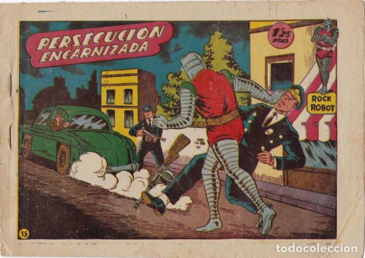ROCK ROBOT Nº 15 PERSECUCION ENCARNIZADA EL DE LA FOTO VER FOTO ADICIONAL CONTRAPORTADA (Tebeos y Comics - Marco - Otros)