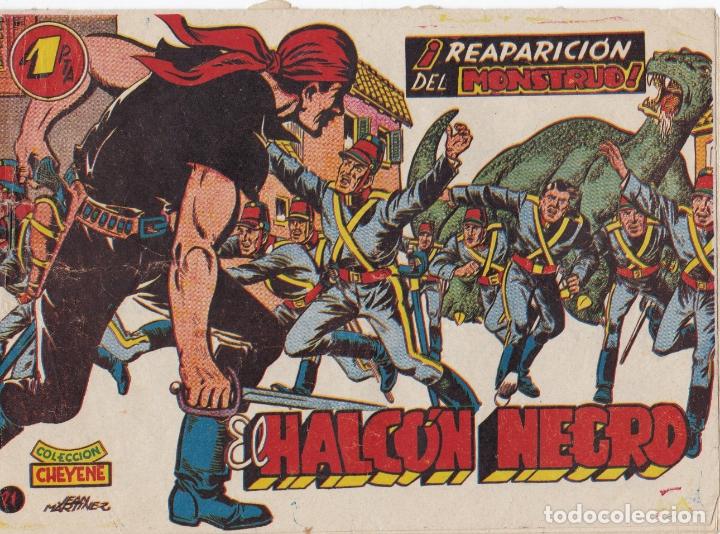 EL HALCON NEGRO Nº 21 REAPARICION DEL MONSTRUO EL DE LA FOTO VER FOTO ADICIONAL CONTRAPORTADA (Tebeos y Comics - Marco - Otros)