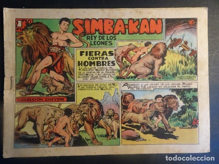 ANTIGUO COMIC SIMBA-KAN REY DE LOS LEONES Nº 3 COLECCION CHEYENE MARCO 1959, VER FOTOS (Tebeos y Comics - Marco - Otros)