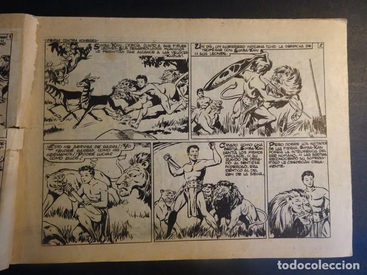 Tebeos: ANTIGUO COMIC SIMBA-KAN REY DE LOS LEONES Nº 3 COLECCION CHEYENE MARCO 1959, VER FOTOS - Foto 2 - 175621700