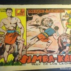 Tebeos: ANTIGUO COMIC SIMBA-KAN REY DE LOS LEONES Nº 39 COLECCION CHEYENE MARCO 1959, VER FOTOS. Lote 175625497