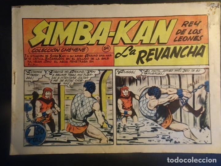 ANTIGUO COMIC SIMBA-KAN REY DE LOS LEONES Nº 59 COLECCION CHEYENE MARCO 1959, VER FOTOS (Tebeos y Comics - Marco - Otros)