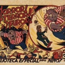 Tebeos: HIPO, MONITO Y FIFÍ: HORROR, TERROR Y FUROR (MARCO, 1943) DE E. BOIX. Lote 177989558
