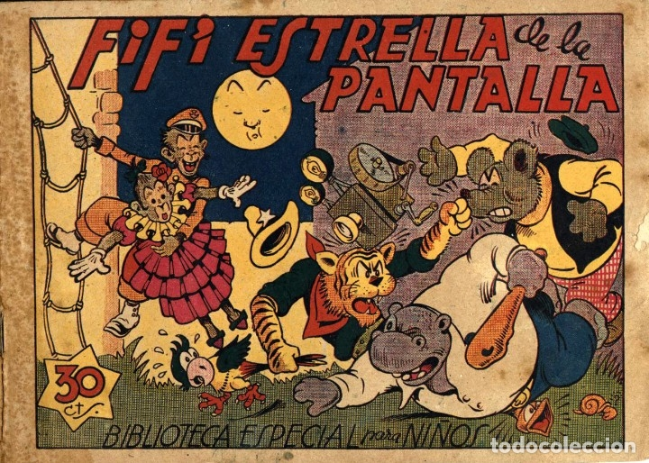 HIPO, MONITO Y FIFÍ: FIFÍ ESTRELLA DE LA PANTALLA (MARCO, 1943) DE E. BOIX (Tebeos y Comics - Marco - Hipo (Biblioteca especial))
