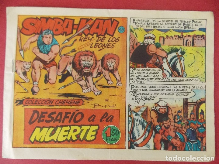 SIMBA-KAN Nº 46 - AÑO 1961 - COLECCION CHEYENE - ED. MARCO - BARCELONA - ORIGINAL ...L381 (Tebeos y Comics - Marco - Otros)