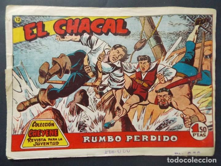 COMIC - EL CHACAL , COLECCION CHEYENE - Nº 12 , RUMBO PERDIDO - MARCO , AÑO 1959 - ORIGINAL .. L403 (Tebeos y Comics - Marco - Otros)