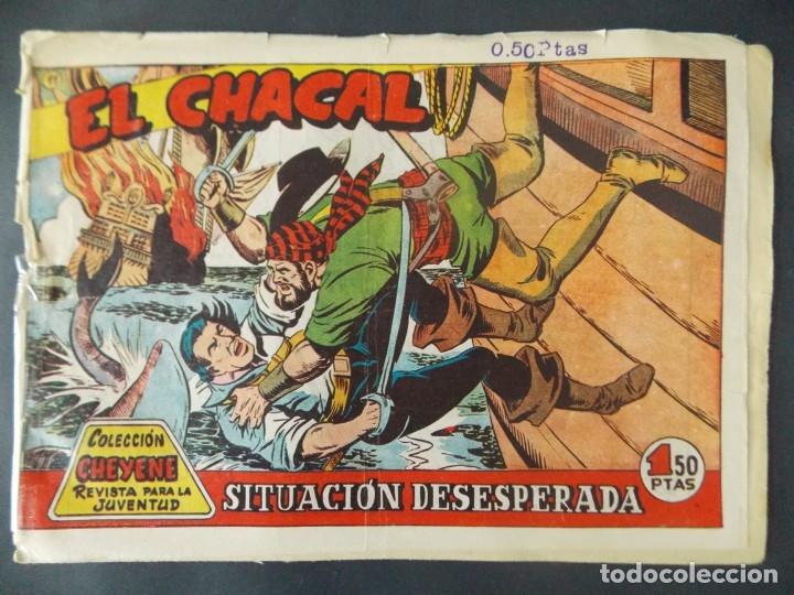 COMIC - EL CHACAL , COLECCION CHEYENE - Nº 11, SITUACION DESESPERADA - MARCO, 1959 - ORIGINAL . L404 (Tebeos y Comics - Marco - Otros)