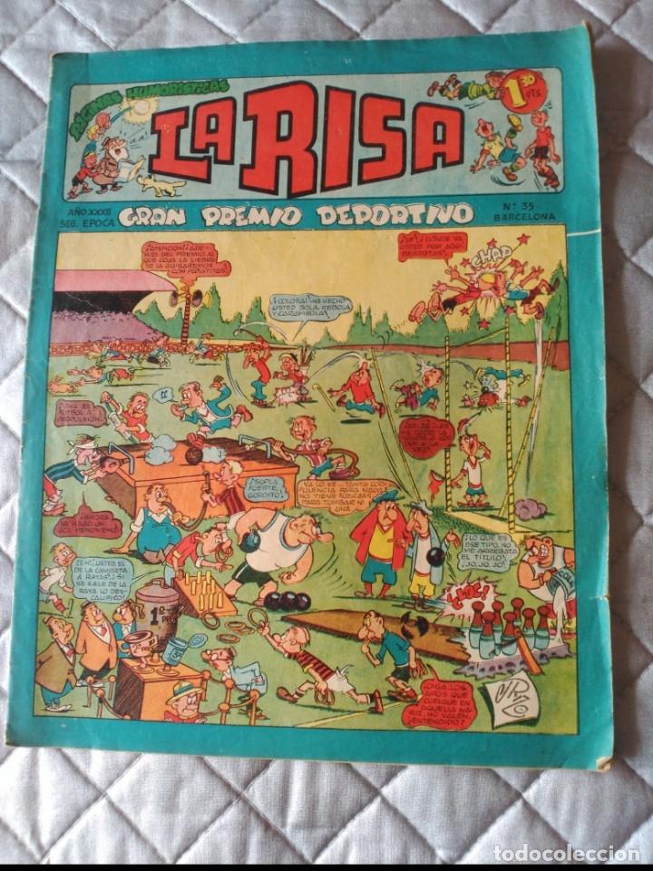 LA RISA, 2ª ÉPOCA, Nº 35, GRAN PREMIO DEPORTIVO. EDITORIAL MARCO, 1953. (Tebeos y Comics - Marco - La Risa)