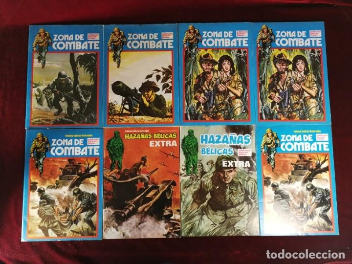 LOTE MARCO ZONA DE COMBATE 6 NÚMEROS Y 2 NÚMEROS HAZAÑAS BÉLICAS EXTRA (Tebeos y Comics - Marco - Otros)