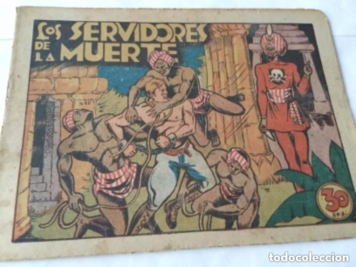 LOS SERVIDORES DE LA MUERTE - 30 CTS.- 4 HOJAS Y TAPAS - MUY BIEN CONSERVADO- AÑO 1940 (Tebeos y Comics - Marco - Otros)