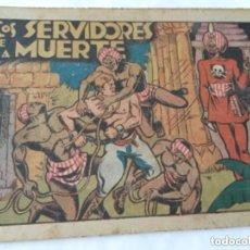 Tebeos: LOS SERVIDORES DE LA MUERTE - 30 CTS.- 4 HOJAS Y TAPAS - MUY BIEN CONSERVADO- AÑO 1940. Lote 182068656