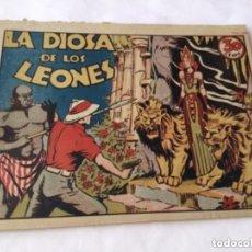 Tebeos: LA DIOSA DE LOS LEONES - 30 CTS.- 4 HOJAS Y TAPAS -EXTRAORDINARIA CONSERVACIÓN- AÑO 1940. Lote 182068913