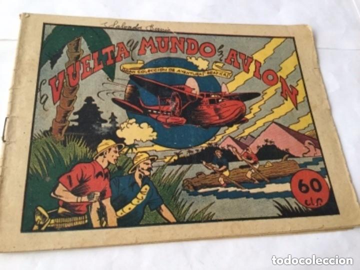 LA VUELTA AL MUNDO EN AVIÓN - 60 CTS.- 6 HOJAS Y TAPAS - MUY BIEN CONSERVADO- AÑO 1940 (Tebeos y Comics - Marco - Otros)
